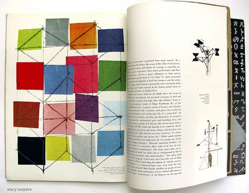 Charles Eames' kite designs, a small part of an in-depth article on the Eameses, from Alexey Brodovitch's Portfolio Magazine #2, Summer 1950.
