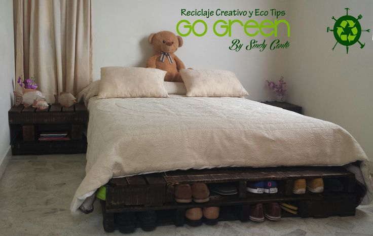 CAMA RUSTICA CON PALLETS.   Vídeo tutorial: https://youtu.be/Tn45oahVEKs