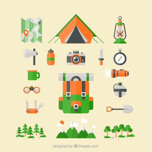 Free vector Camping icons #5758