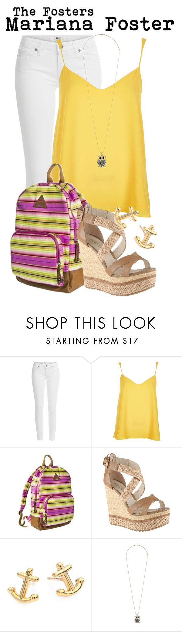 """The Fosters- Mariana Foster"" by darcy-watson ❤ liked on Polyvore featuring Paige Denim, River Island, Mad Love, ALDO, Kate Spade and Dorothy Perkins"