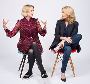 Lauren Laverne and JK Rowling (also, how awesome is Lauren's outfit!)