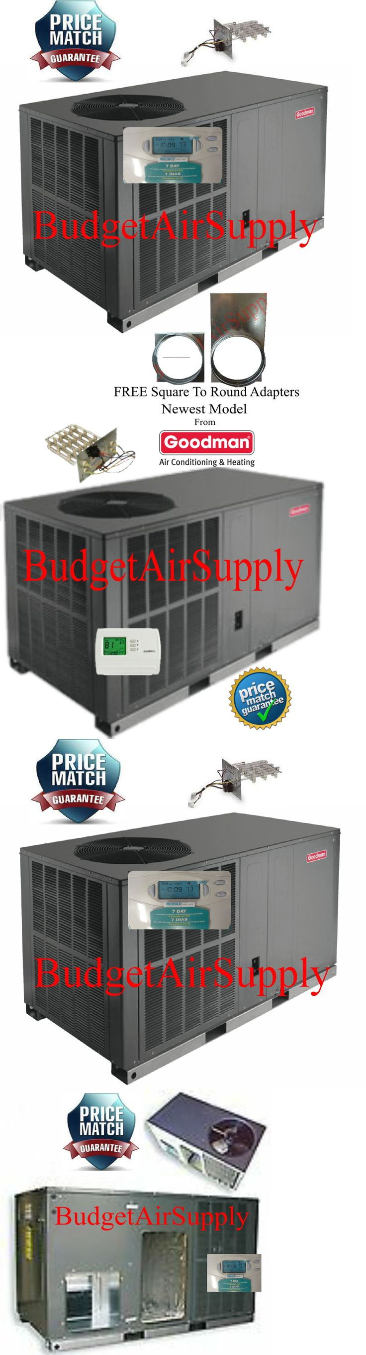 Air Conditioners 69202: 5 Ton 14 Seer Goodman Heat Pump All In One Package Unit Gph1460h4+Sq2rd+Tstat+Ht -> BUY IT NOW ONLY: $2595 on eBay!