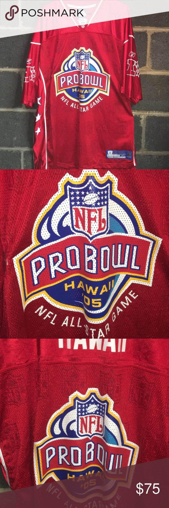 Reebok 2oo5 NFL Pro Bowl Game Football Jersey Rare 2005 Men's XL Reebok NFL Pro Bowl Football Jersey. Jersey is in excellent condition with no major flaws. One of a kind throwback. Reebok Shirts Tees - Short Sleeve