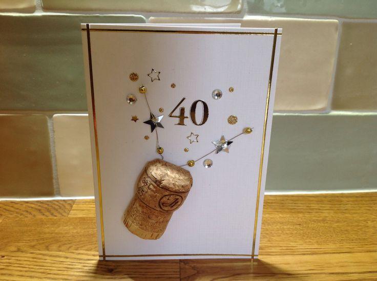 40th birthday card: champagne cork  https://www.djpeter.co.za