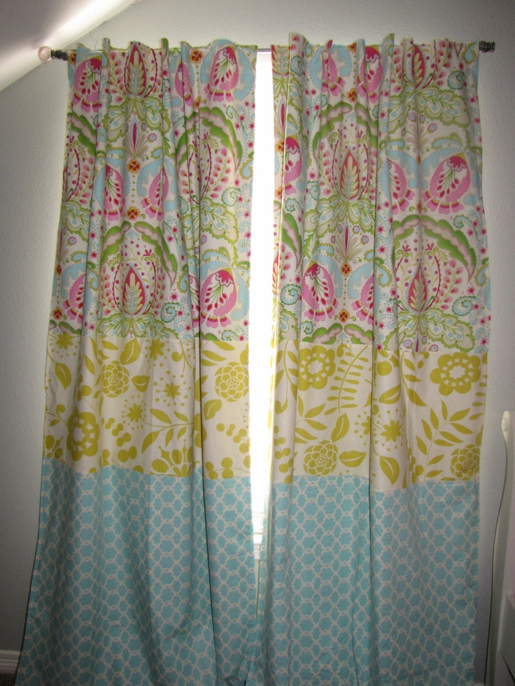custom made triple fabric tarika hidden tab curtains by babylovin
