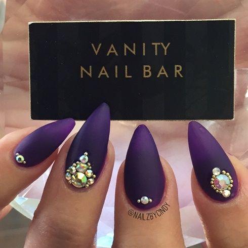 Matte Purple Nails! by Vanitynailbar - Nail Art Gallery nailartgallery.nailsmag.com by Nails Magazine www.nailsmag.com #nailart