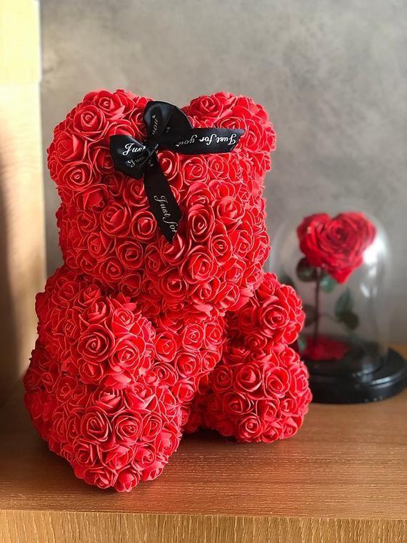 Rose Bear Luxury Rose Teddy Bear Forever Rose Teddy Rose Bear Flower Bear In 2020 Best Friend Gifts Forever Rose Sister Gifts