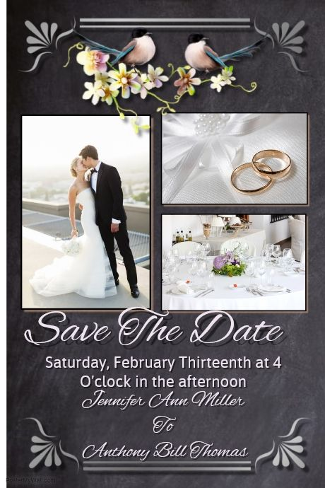 The Best Wedding Anniversary Save The Date Bridal Shower - Bridal shower flyer template