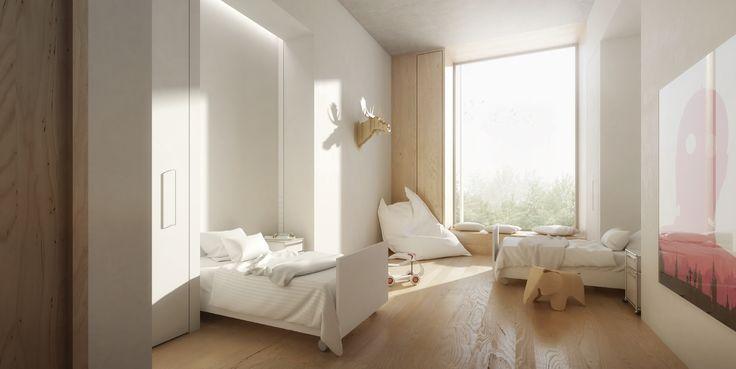 1. Preis: Bettenzimmer für Kinder, © Nickl & Partner Architekten AG