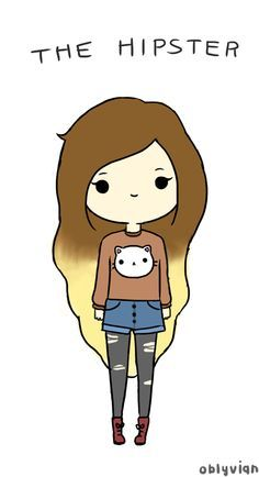 The Hipster. (is it bad that I don't consider myself a hipster.. yet I have this very outfit and hair color.?.)