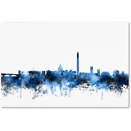 Trademark Fine Art Washington DC Skyline Iii Canvas Art by Michael Tompsett, Size: 22 x 32