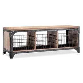 Franklin Entryway Bench with Baskets - The Industrial Shop™ : Target