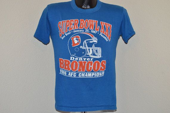 ON SALE 80s Denver Broncos NFC Champs Super by thecaptainsvintage