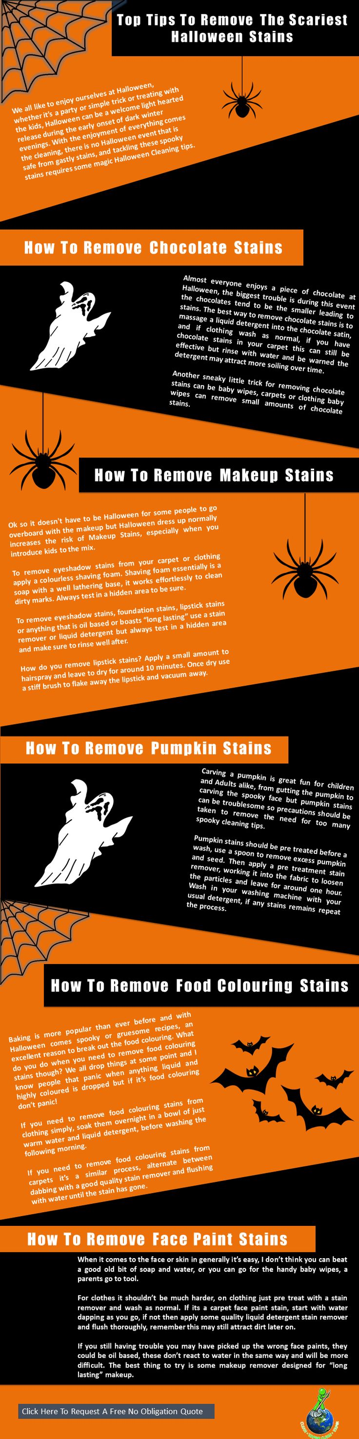 Halloween cleaning tips for stain removal remove make up and spills from home and clothes