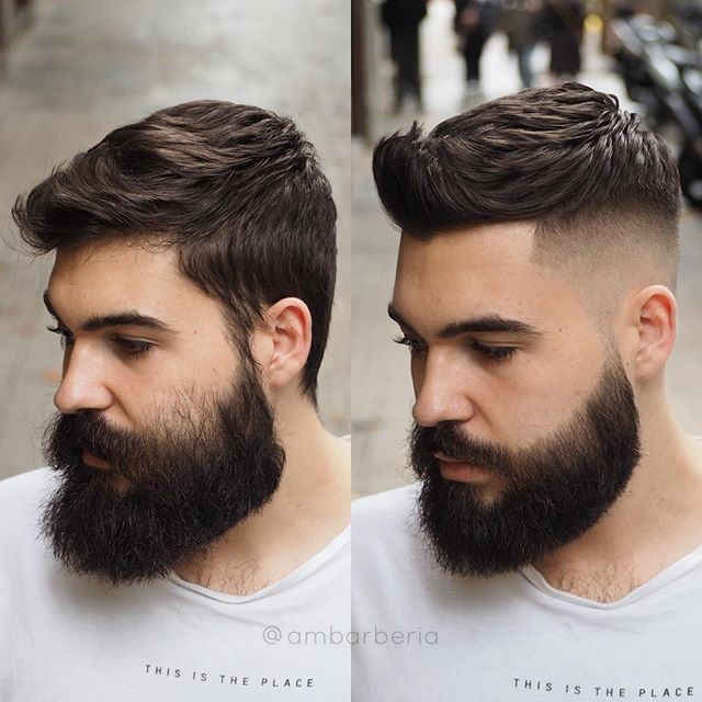 Handsome Beard Styles For Men With Short Hairstyles Short Textured Hair Taper Fade Full Beard Top 35 Beard Haircut Fade Haircut With Beard Beard Styles