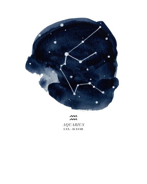 *FREE SHIPPING on art prints until Feb 8, 2015! Must use this link for promo to work: http://society6.com/theaestate?promo=WBXZ3QFY7ZR8 Aquarius Zodiac Constellation Art Print by THE AESTATE | Society6