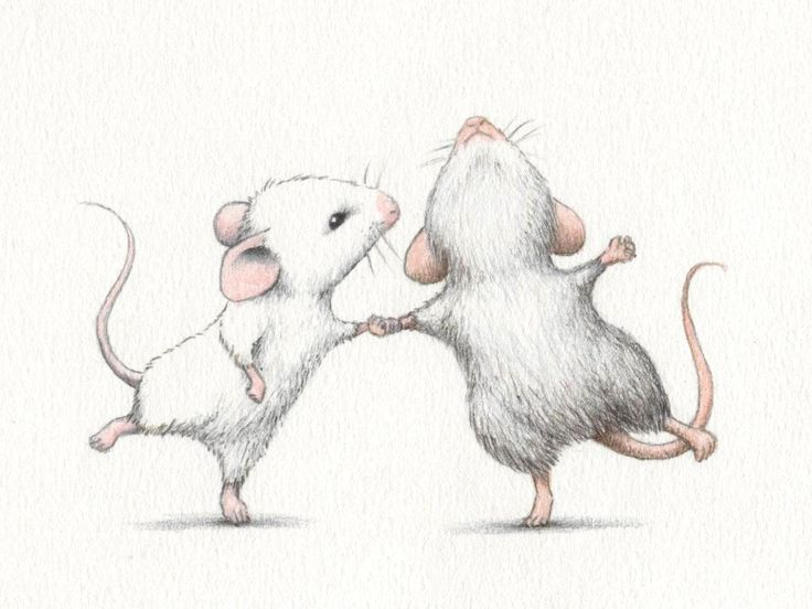illustration, dancing, mouse, mice, couple, drawing, real by Stuart Galligan(?)♥•♥•♥Sweet!