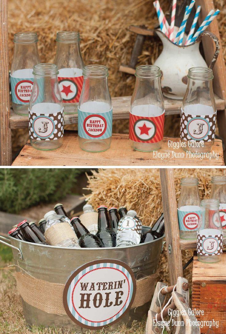 Cowboy party food ideas - Diy Western Cowboy Party Package