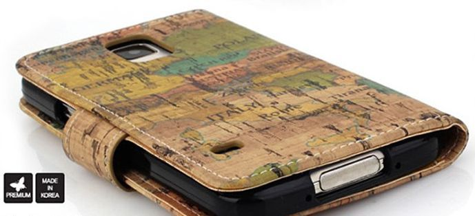 Geography Vintage Premium Diary Case for LG Optimus F7