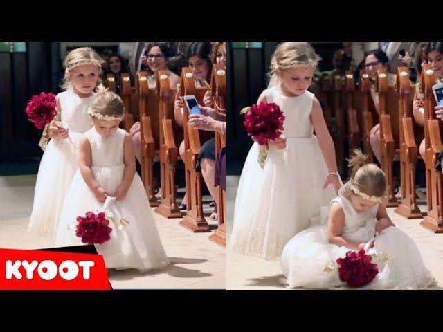 Flower Girl Fails Best Wedding Fails Videos Wedding Fail Flower Girl Wedding