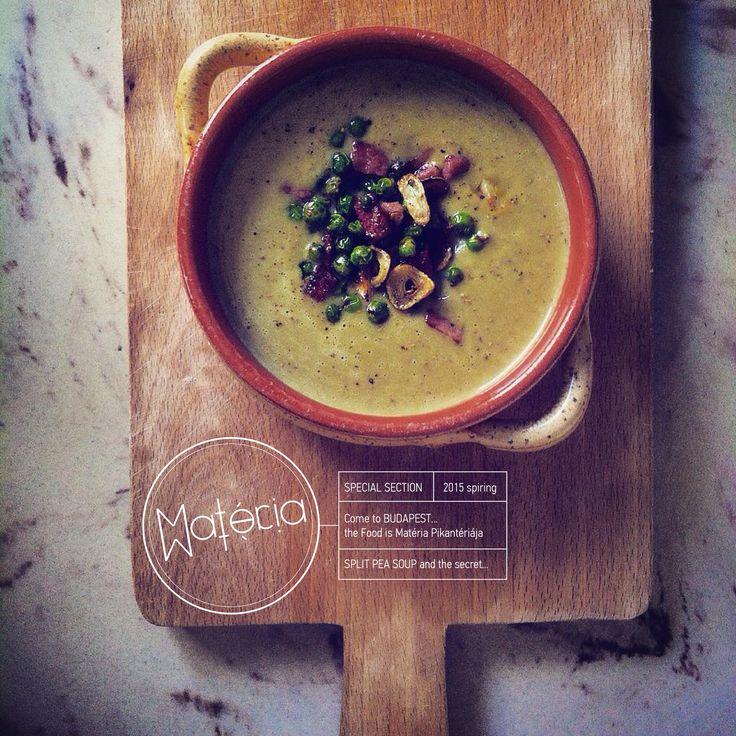 Split pea soup al'a Matéria