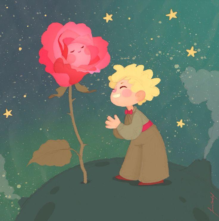 Principito y rosa