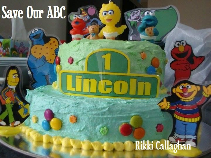 """Sesame Street Cake by Home Baker Rikki. In Australia we are losing funding to our independent television channel The ABC. I am starting a collection of photos from our local Cake Decor in Cairns home baking mums and dads to support the facebook page (not run by me) """"Australians Baking Cakes for the ABC."""