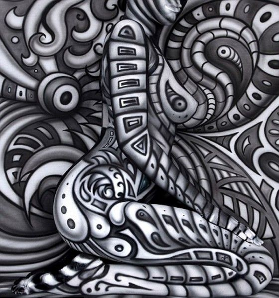 SiCK body paintings by Craig Tracy