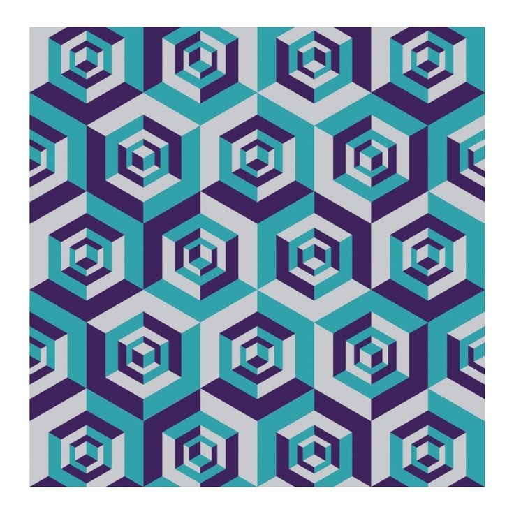 Necker cubes; from a collection of mind-expanding geometric patterns on blog grasshoppermind