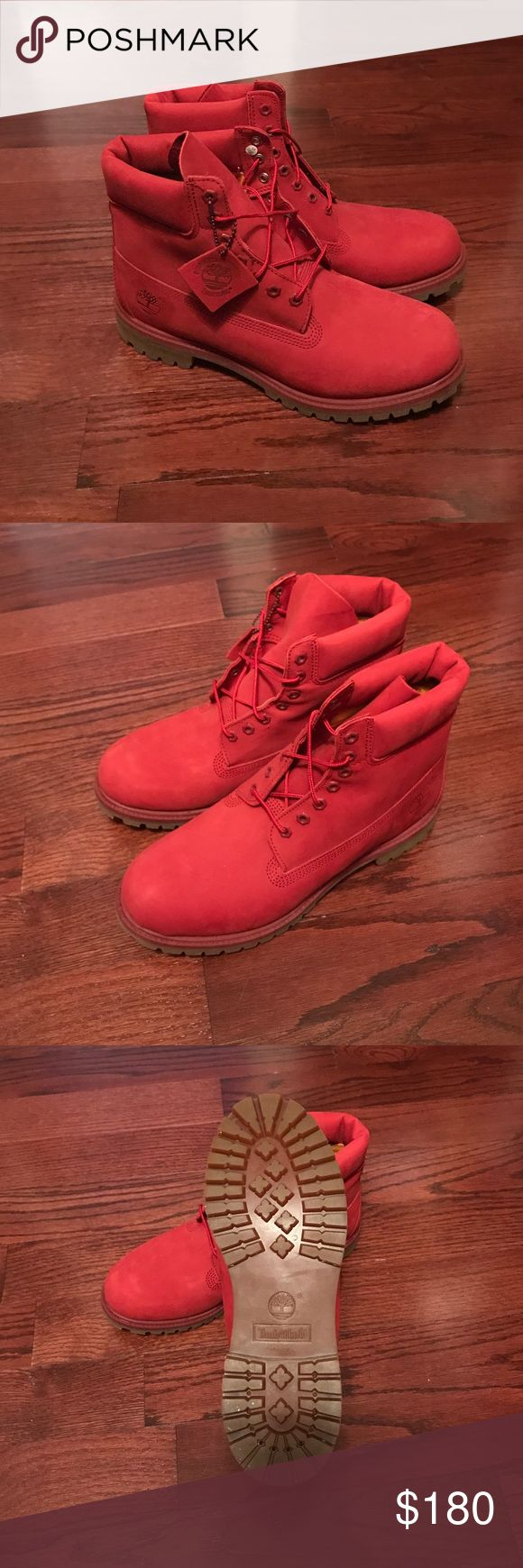 "6"" Timberland ""Red"" Brand New Red Timberland. Released last year Feb 2016. Never worn. Still smells new. Size 13. 100% Authentic. No receipt No box. Timberland Shoes Boots"