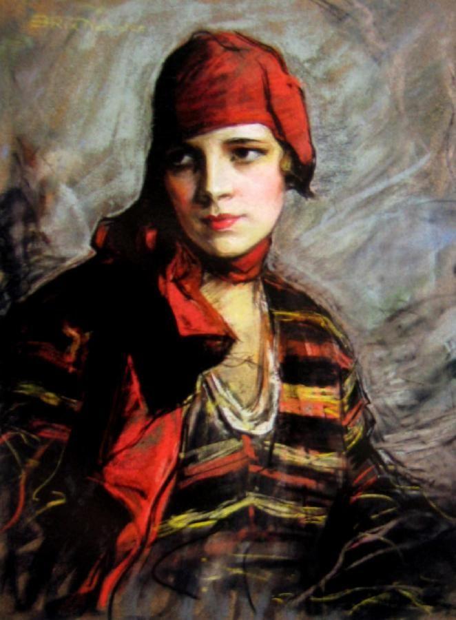 Emily Hilda Rix Nicholas (Australian, 1884-1961) - Portrait of a Woman