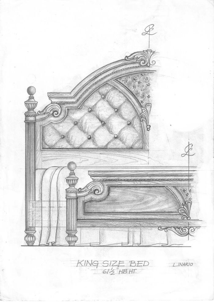 freehand drawing of furniture designs by lope inario at Coroflot.com