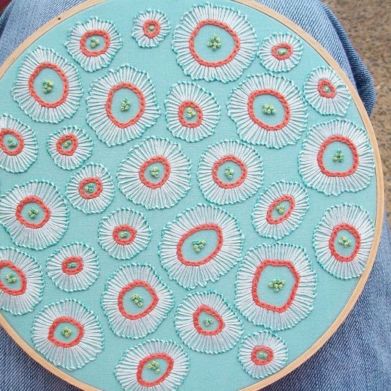 hand embroidered design