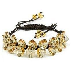 Glamorous GoldenRod Crystal Adjustable Bracelet Contempo Culture