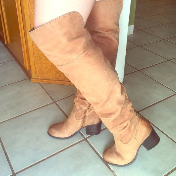 Cylia ALDO thigh high boots Worn once, practically new. ALDO Shoes Heeled Boots