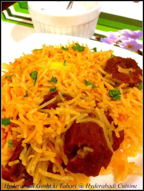 Hyderabadi Cuisine: Hyderabadi Gosht ki Tahari
