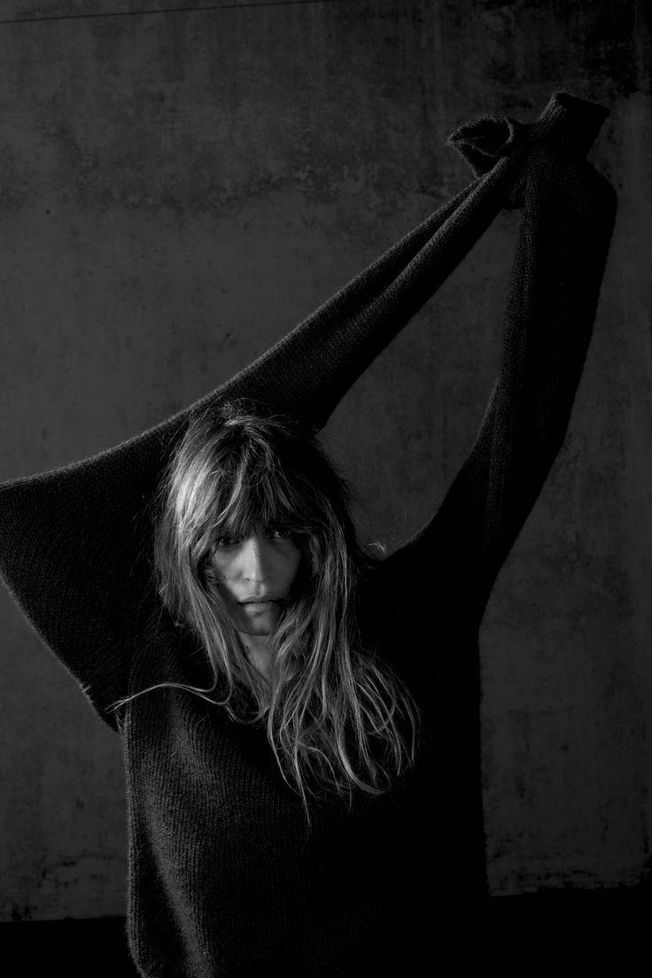 blkdnm:  A PORTRAIT OF CAROLINE DE MAIGRET IN SWEATER 30, PHOTOGRAPHED BY JOHAN IN PARIS.