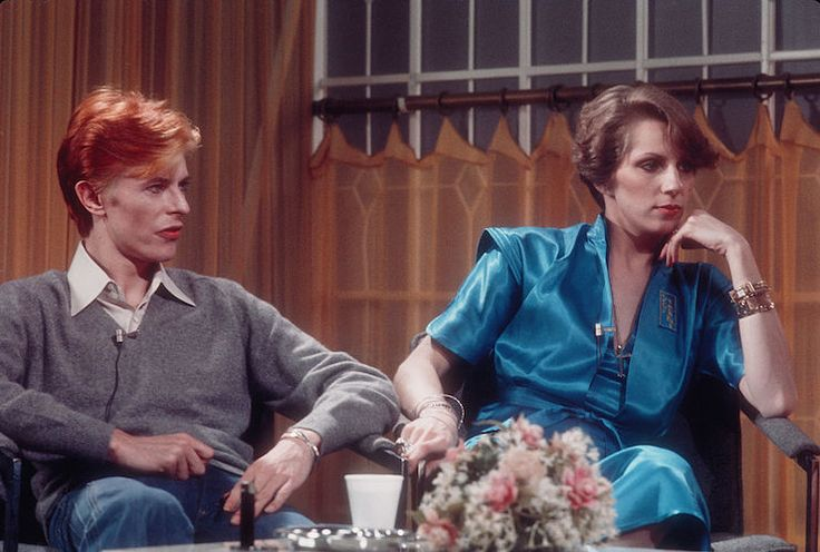 David and Angela Bowie on 'Good Morning America' in 1976. Photo: Getty