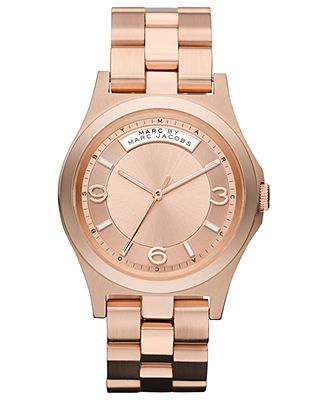 Marc by Marc Jacobs Watch, Women's Rose Gold-Tone Stainless Steel Bracelet 40mm MBM3184