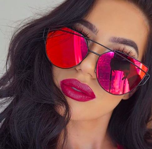 red mirrored aviators UK wire frame scousebirdprobs sunglasses