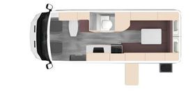 Kea 3KQ Berth Origin - Campervan Hire Australia - day plan
