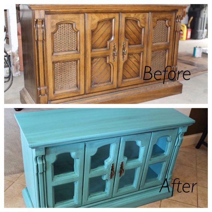 Refurbish Kitchen Cabinets: Refurbished Vintage Stereo Cabinet