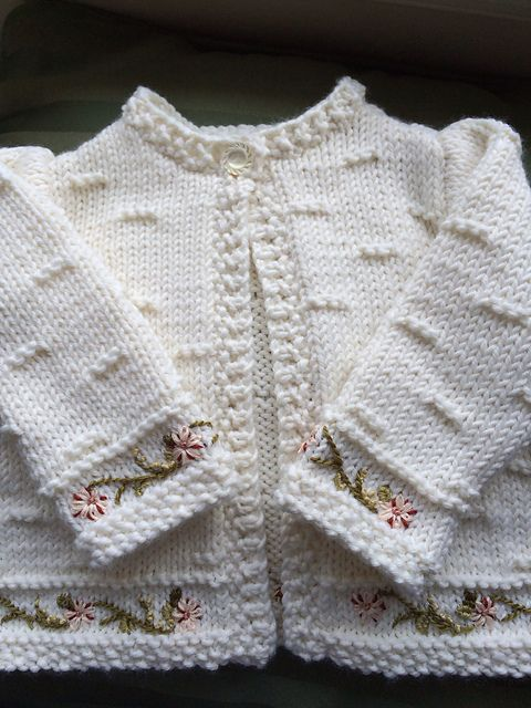 Ravelry: Project Gallery for #15 Baby Jacket pattern by Michele Rose Orne. 6 months