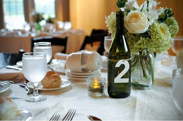 1000 images about wedding centerpiece ideas on pinterest for Homemade wine bottle centerpieces