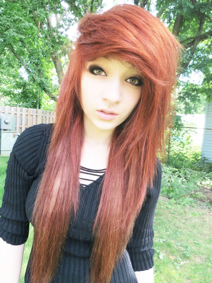 Emo Hairstyles For Thick Hair : 234 best emo scene images on pinterest
