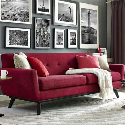 James red linen sofa strong and handsome with a soft side the james sofa captures the essence of mid century style that refuses to fade into obscurity
