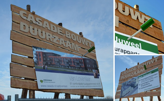 2d studio in vorm: duurzaam bouwbord voor Casade