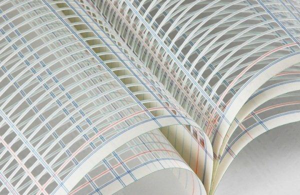 JILL SYLVIA'S PAPER ART - only the book's framework