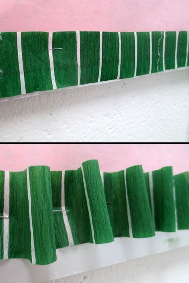 Streamers as Border for Bulletin Boards