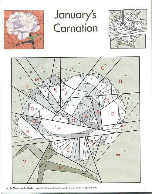 January's carnation  24 flower quilt blocks 08   Flickr - Photo Sharing!